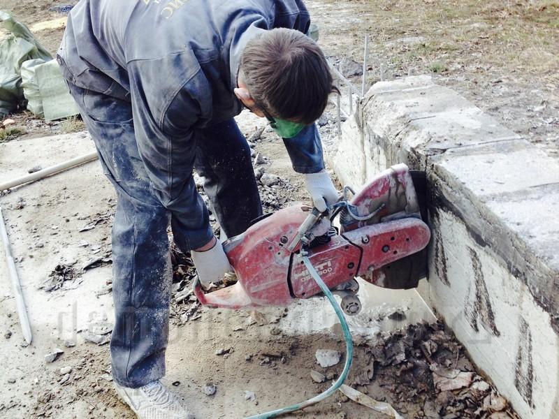 Демонтаж фундамента   конечный этап сноса зданий