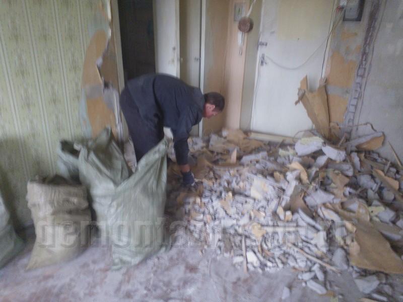 вынести строительный мусор из квартиры